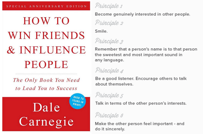 Top 6 Summary Points of  How to Win Friends and Influence People , first published in 1936.