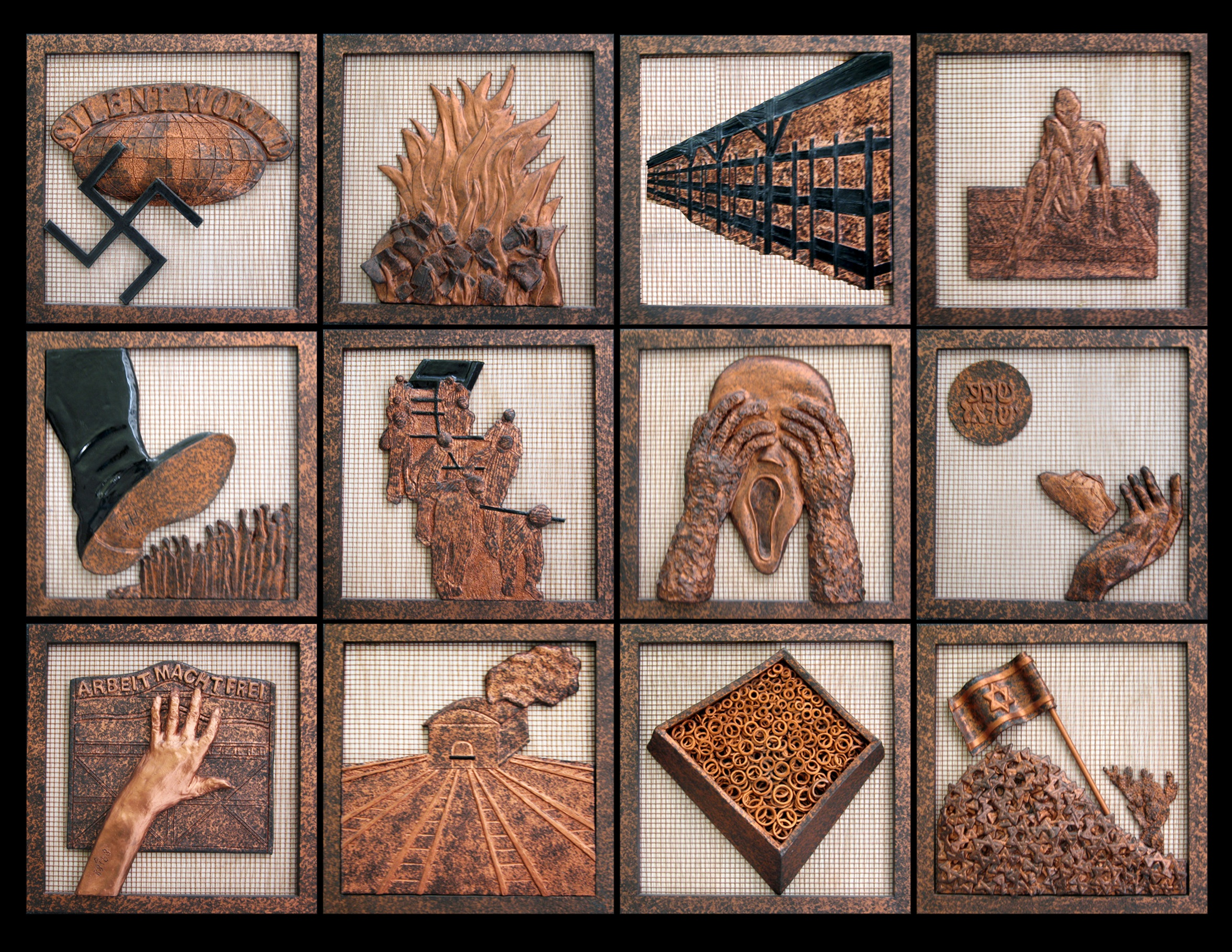 12 Windows to the Unforgettable Past. Click for a complete description and more of Gabriella's sculptures.