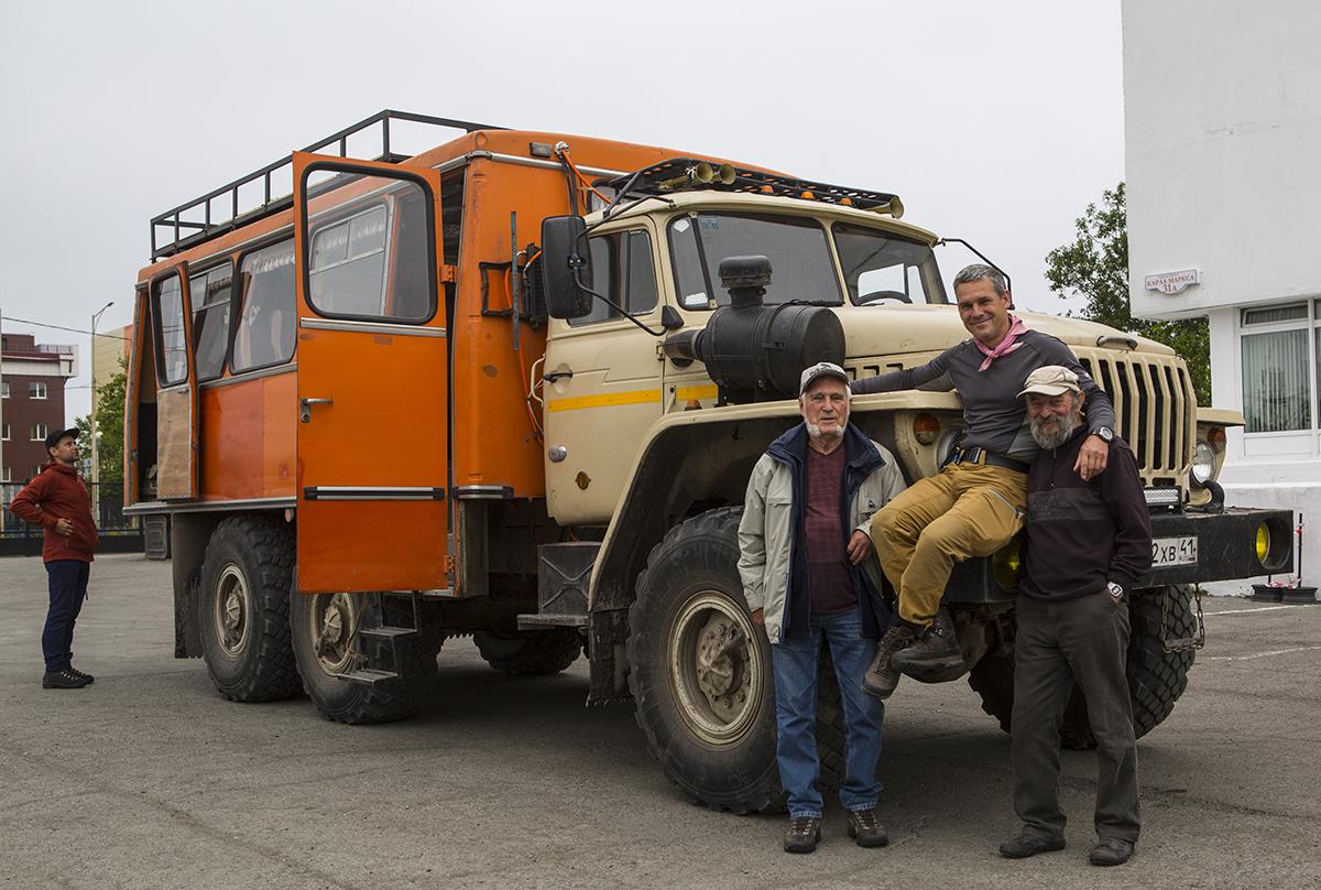 Unser Ural, Roman,  Erhard, ich und  Hagen