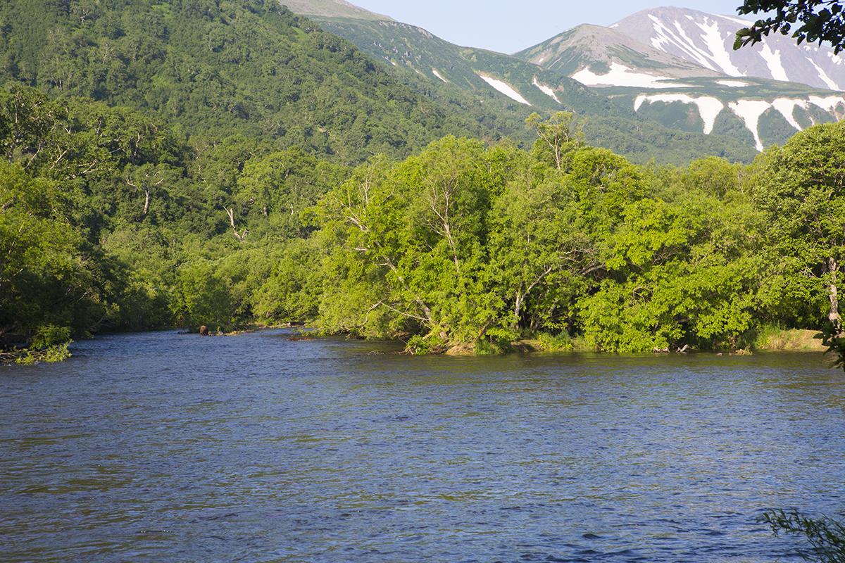 Zwei Jurten Fluss