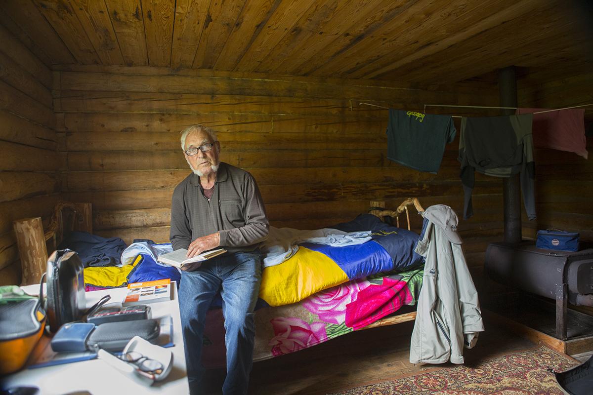 In unserer  Hütte