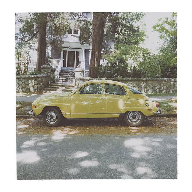 #car #yellow #grain #vintage #vancouver #carsofvancouver #vancity #bc #britishcolumbia