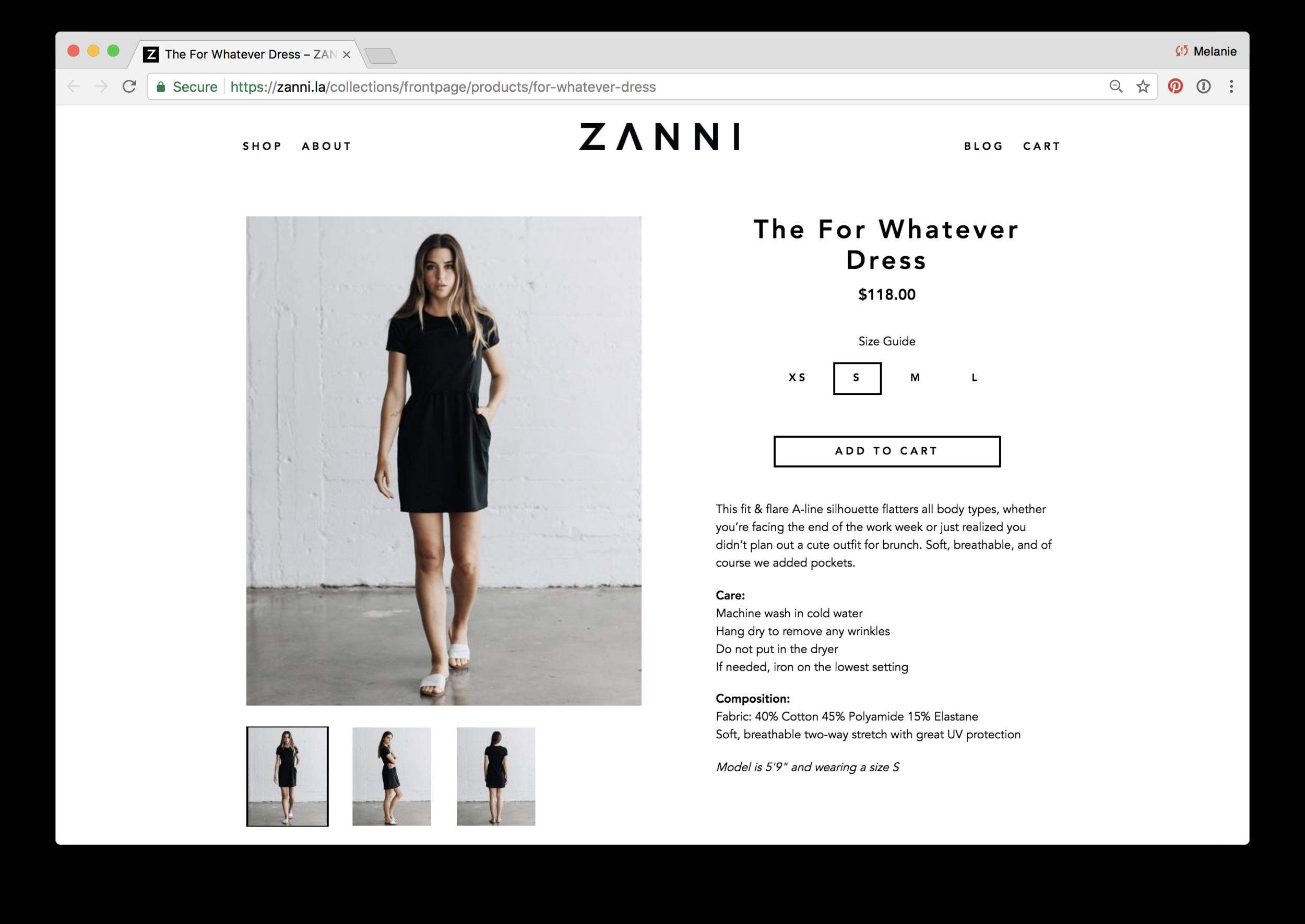 Product description for ZANNI