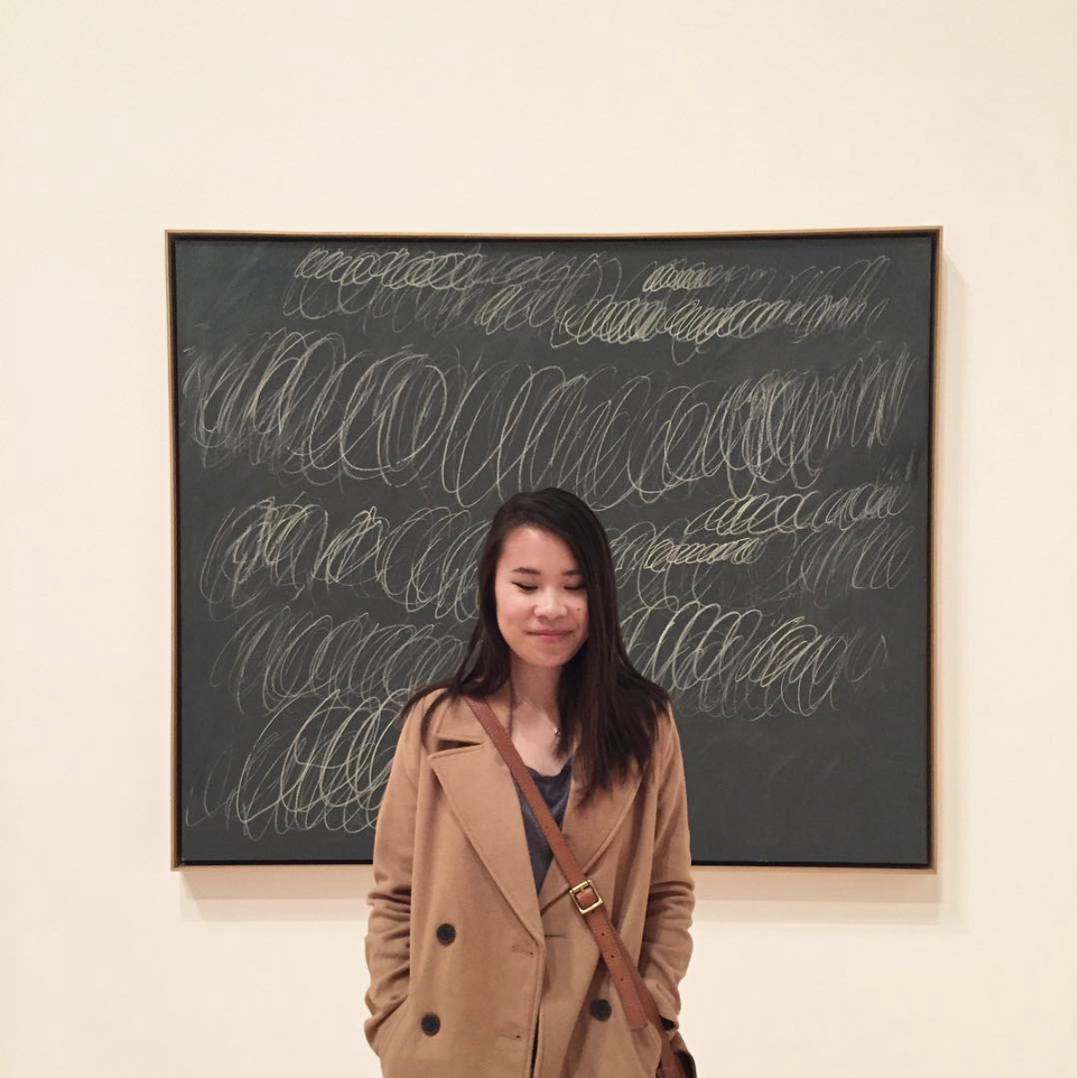 Also me and Cy Twombly at MOCA Grand, 2016