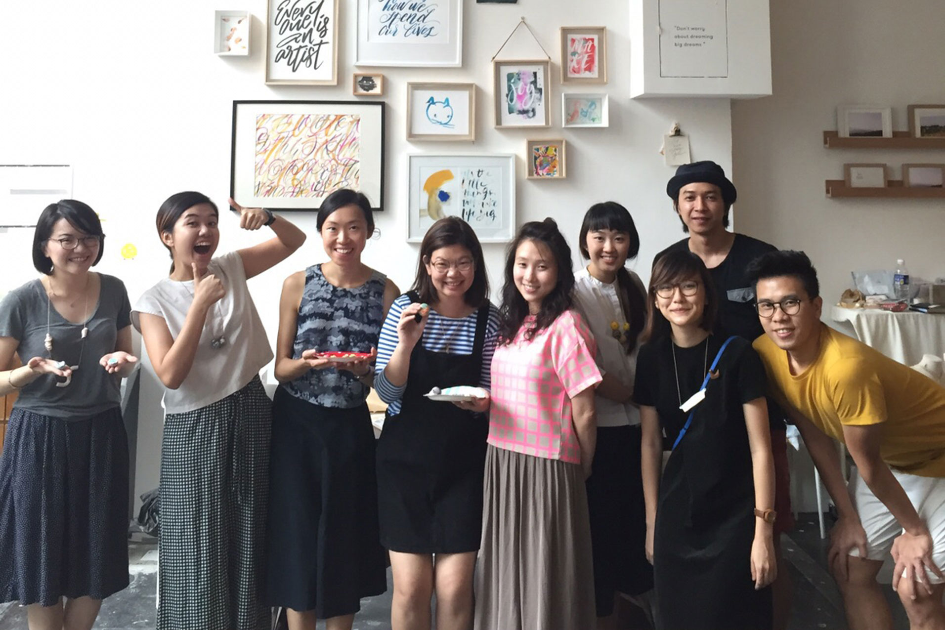 Private class held for artists-in-residence in Letter J Studio, who turned friends ;)
