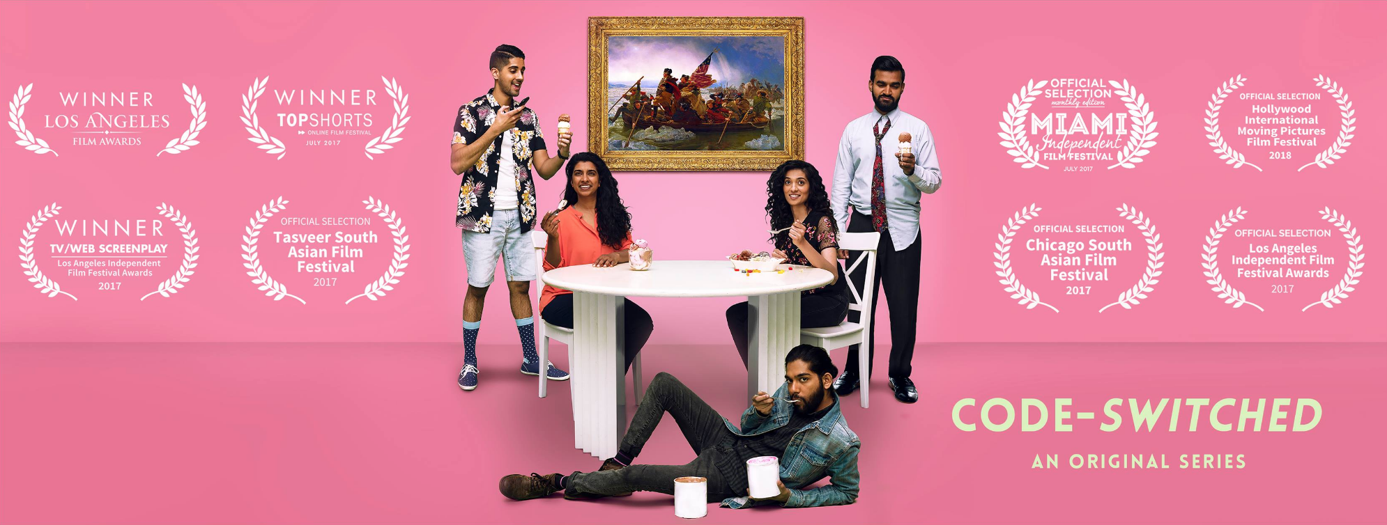 Lead in the critically acclaimed web series 'Code-Switched', A comedy-drama about a group of South Asian-Americans juggling love, work, and family in Chicago.