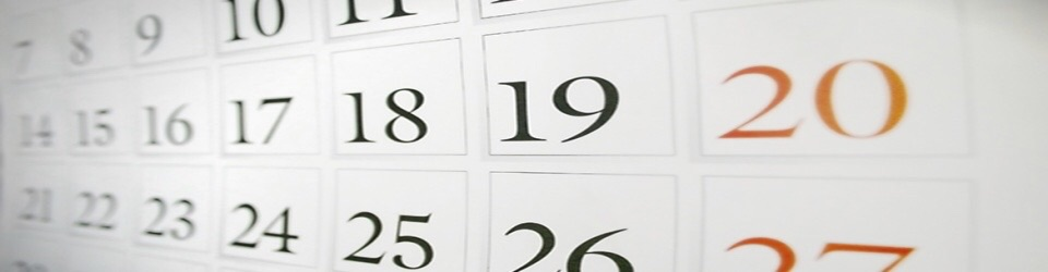 Illustration of a monthly calendar page