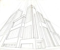 Pencil sketch of building highlighting visual perspective
