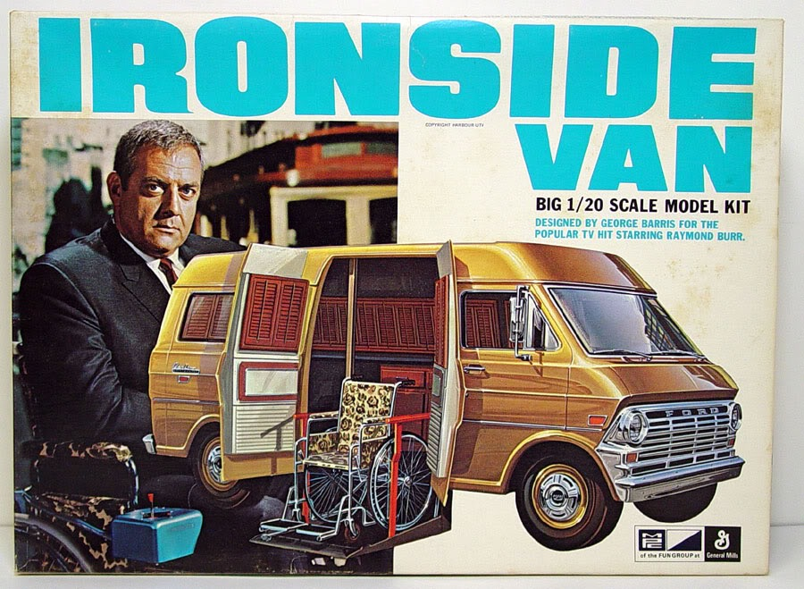 Photo of the box of a model kit of Ironside's wheelchair lift van