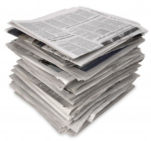Picture of a stack of newspapers