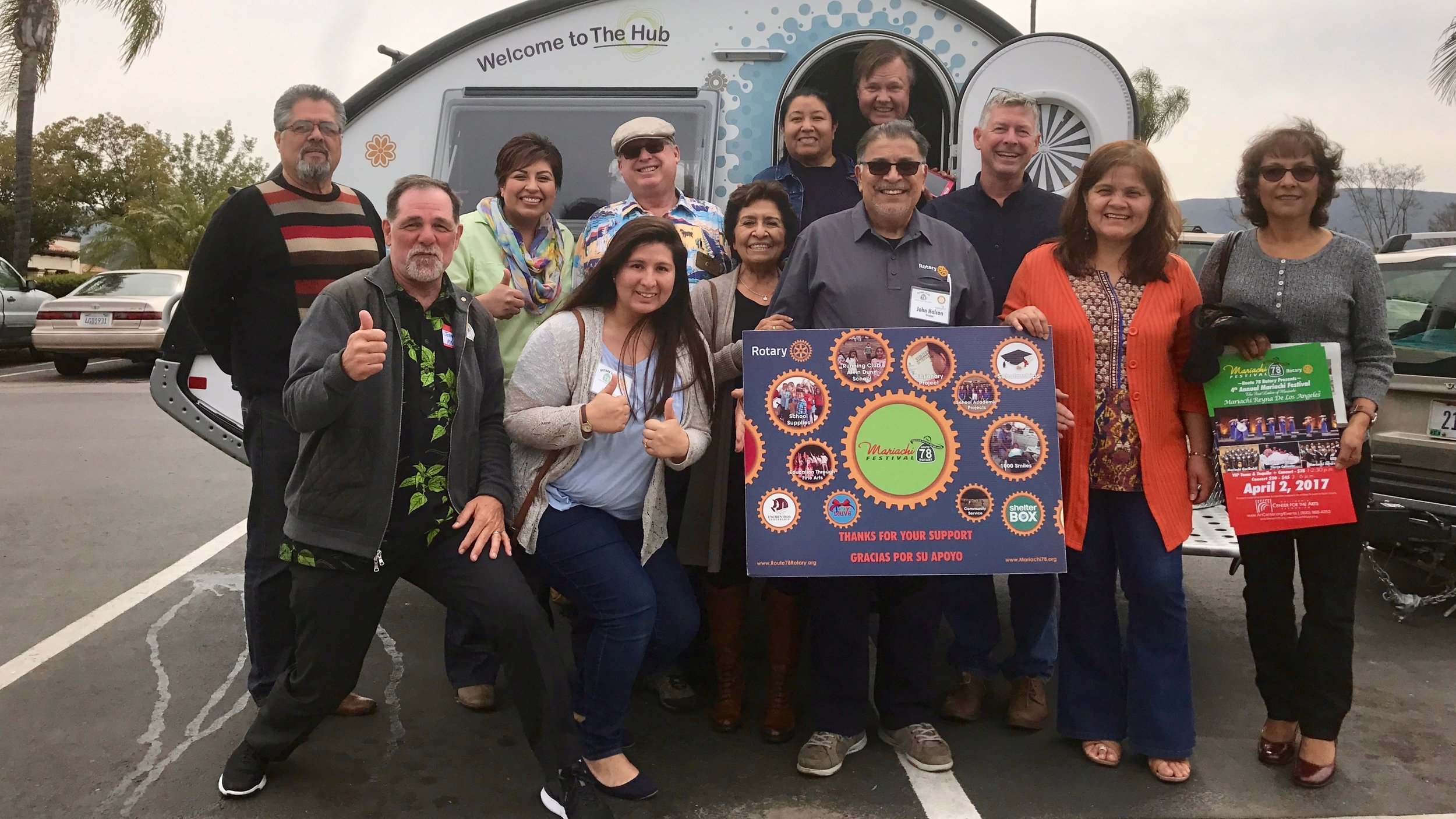 Meeting up with the Highway 78 Rotary Club in North County San Diego for the nickle tour of The Hub and a chance to talk about their upcoming Mariachi Festival that raises funds for local school programs.