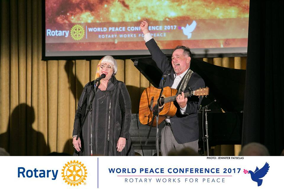 (Ann Arbor, MI) Jerry Leggett, 21CPLF President/CEO, and Patsy Ferrell, 21CPLF Creative Director and Co-founder, were honored to appear in conjunction with an address by Nobel Peace Prize Laureate, Jody Williams at the 2017 Rotary World Peace Conference.