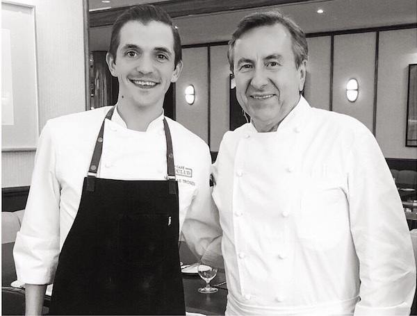 Chef de Cuisine Nicholas Trosien and Chef Daniel Boulud. Photo by Stephanie Dickison.