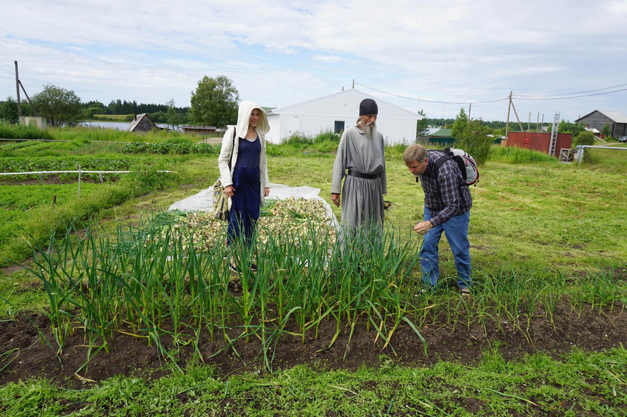 Sommeren 2015 besøkte vi igjen et ortodoks klostermed kjøkkenhage og hvitløk.