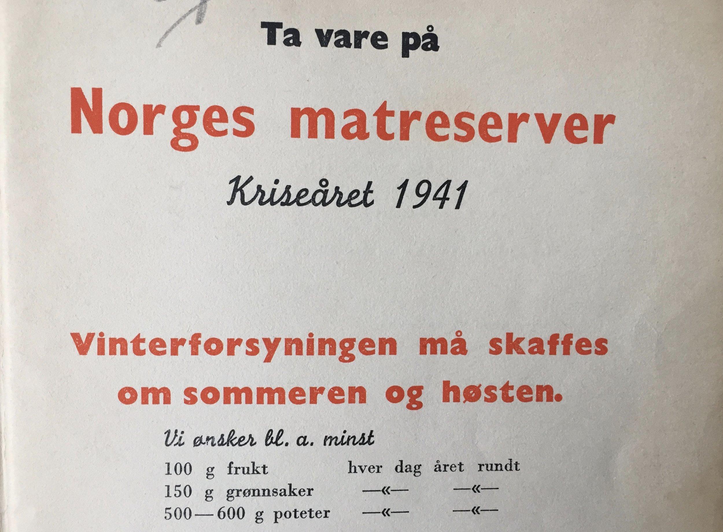 De kalte en spade for en spade. Kriseåret 1941