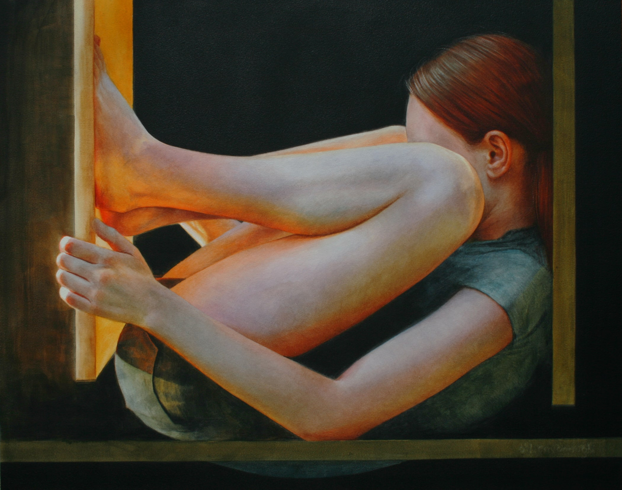 Ali Cavanaugh,  Effect  (2015), fresco, 16 x 20 inches