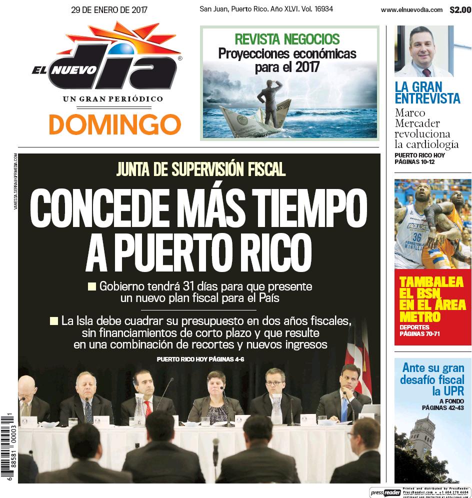 El Nuevo Día Newspaper 01.29.17
