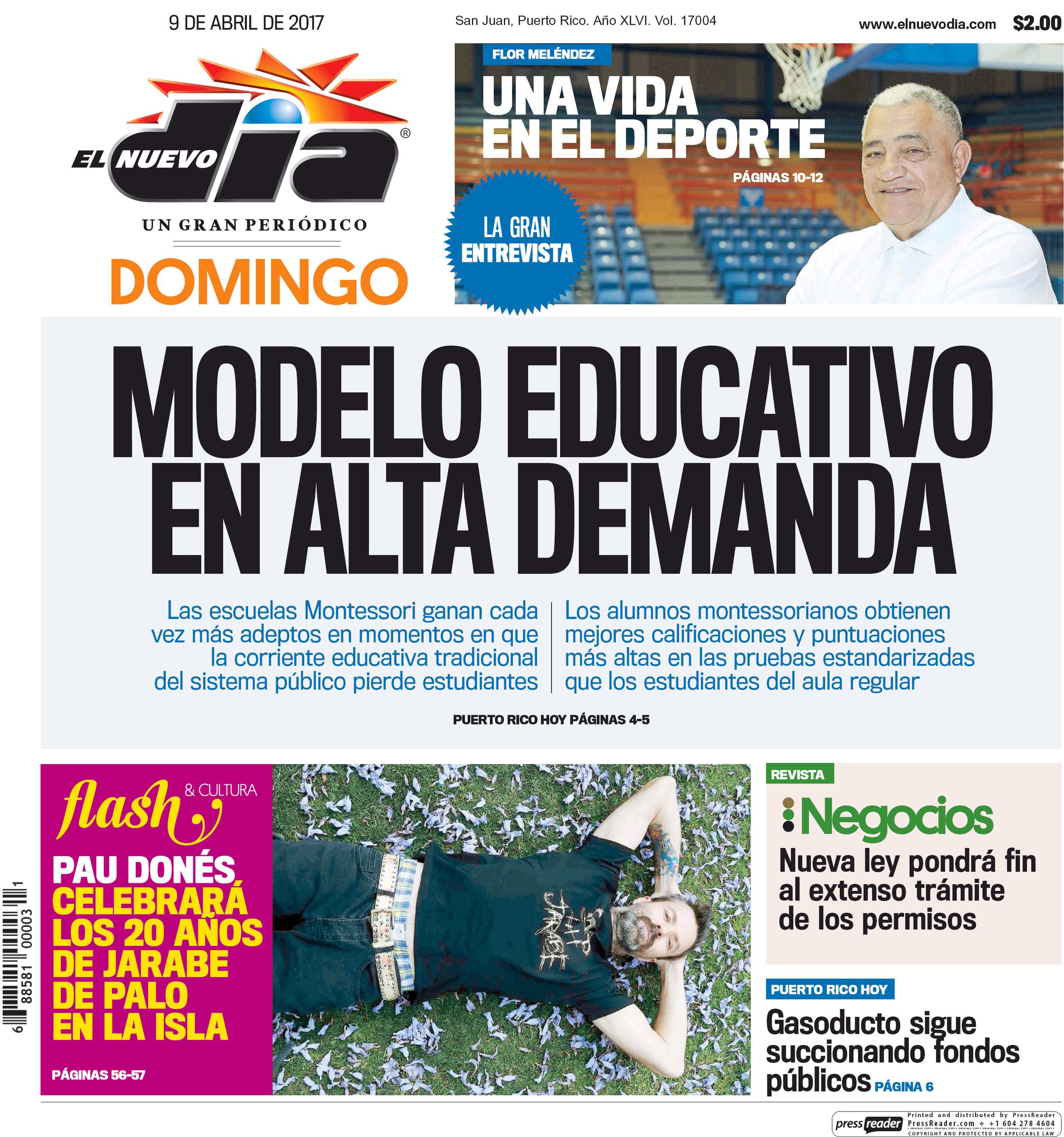 El Nuevo Día Newspaper 04.09.17