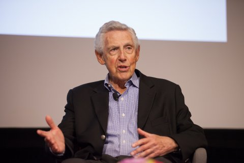 Al Golin, Founder and Chairman of Golin speaks during the 2016 Kenneth Owler Smith Symposium at Wallis Annenberg Hall. Photo courtesy of USC Annenberg / Brett Van Ort.