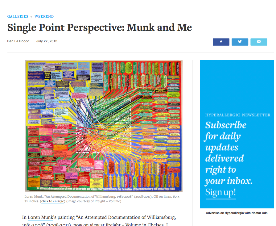 Single Point Perspective: Munk and Me - By Ben La Rocco, Hyperallergic