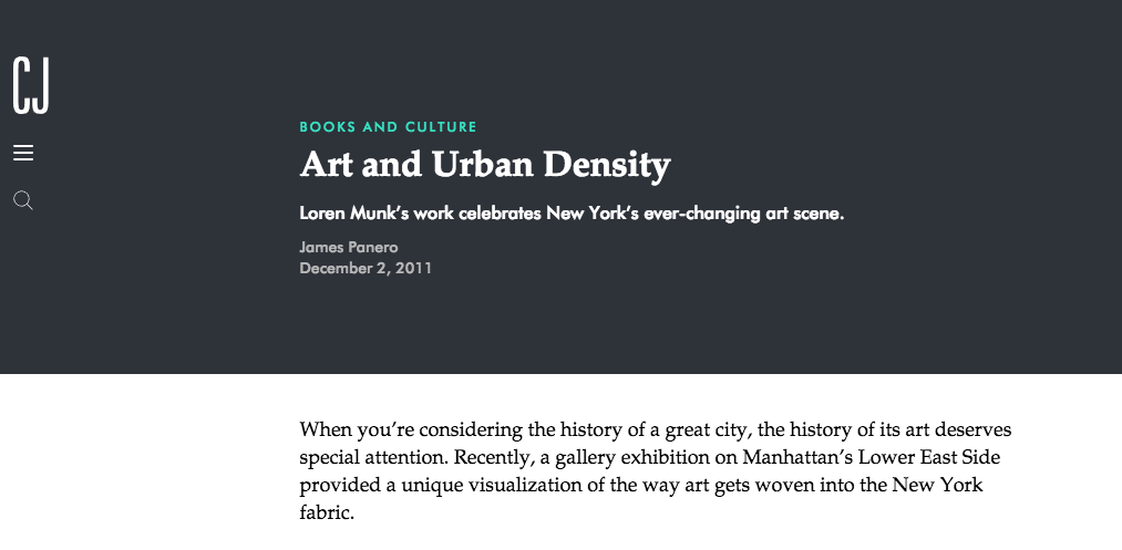 Art and Urban Density - By James Panero, City Journal