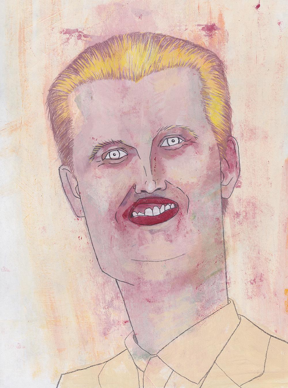 Eric Trump  acrylic, graphite and colored pencil on illustration board