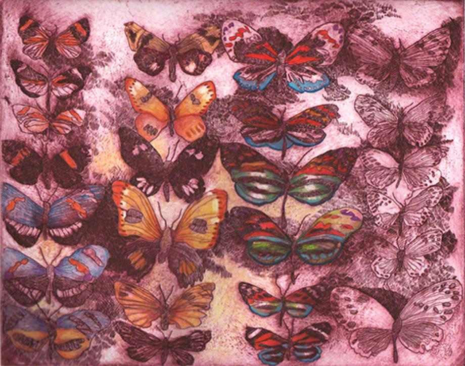 Red Butterflies II
