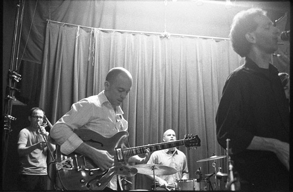 Beat Circus sound check, 2010 Union Pool Brooklyn, by Dave Bias