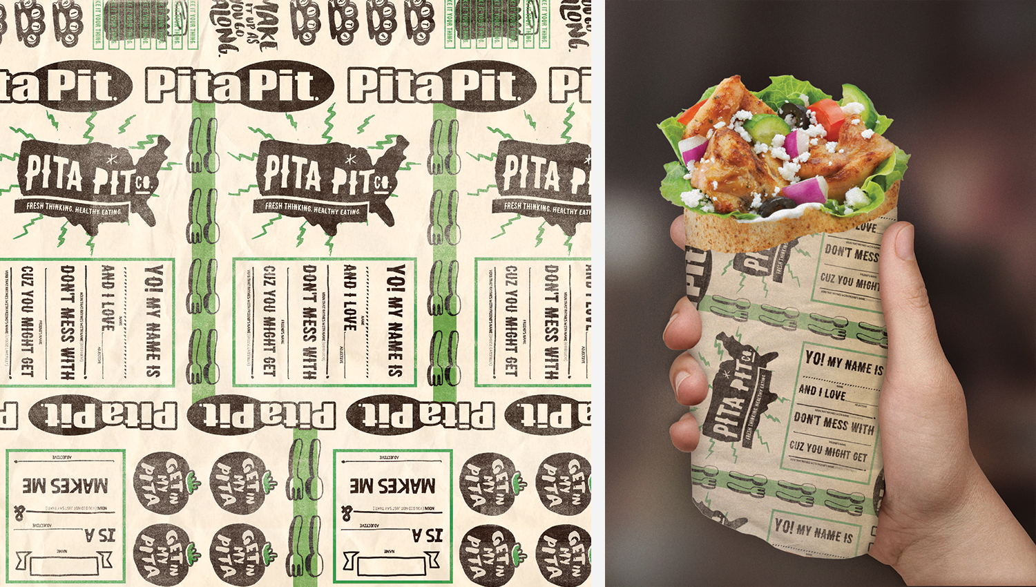 Pita wraps are in production now.