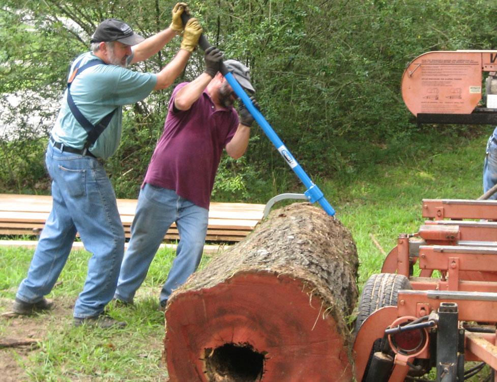 Milling lumber in Kingston Springs, TN