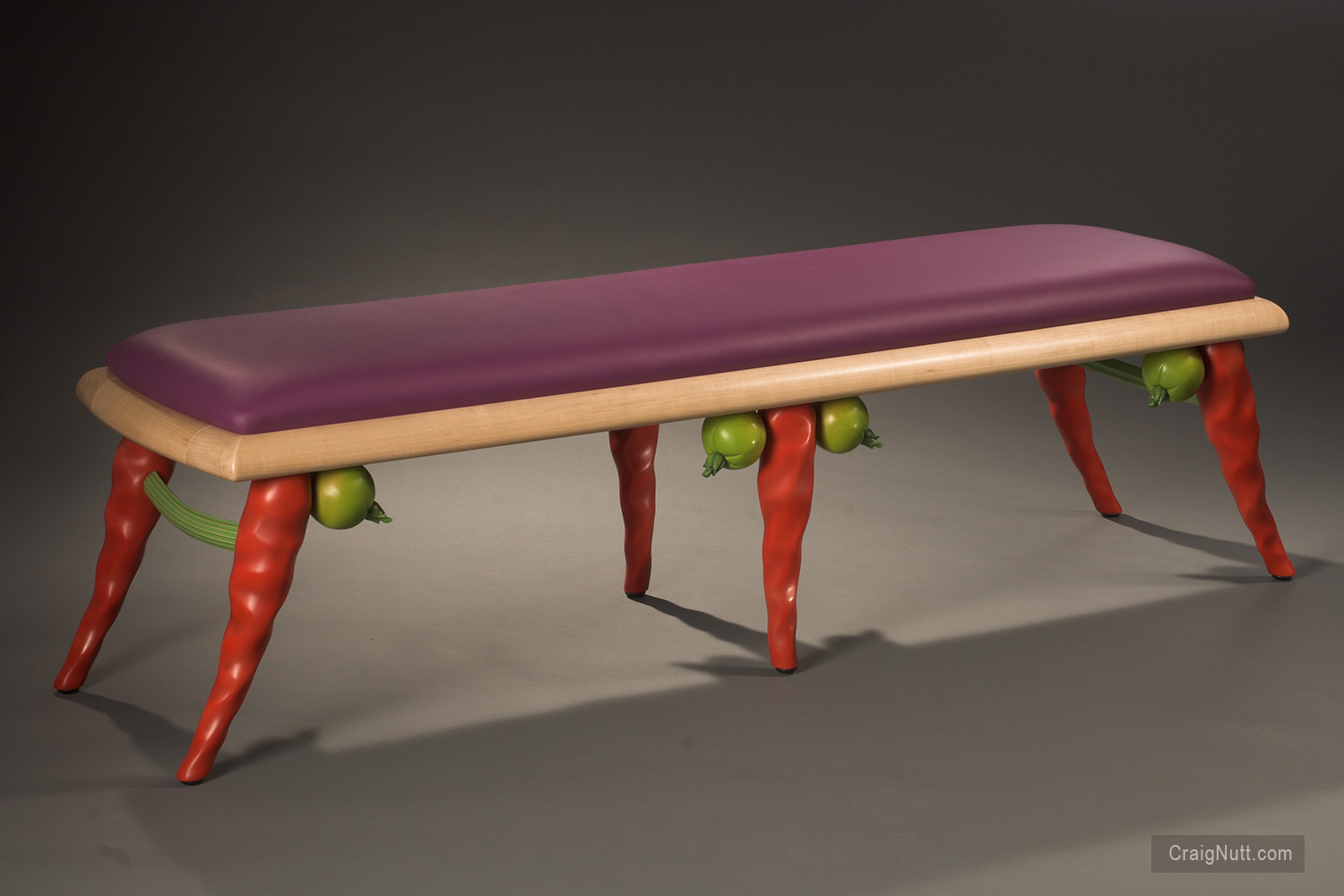 Red Chile Bench With Tomatoes and Celery Sticks