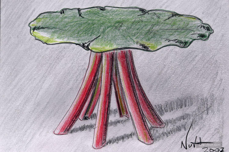 Color Study for Rhubarb Table