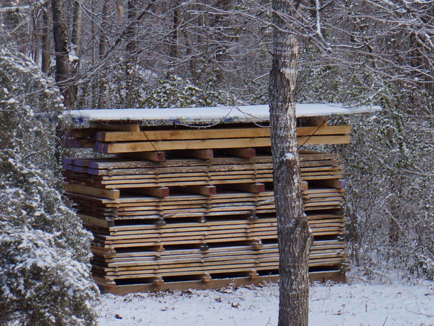 Lumber drying.