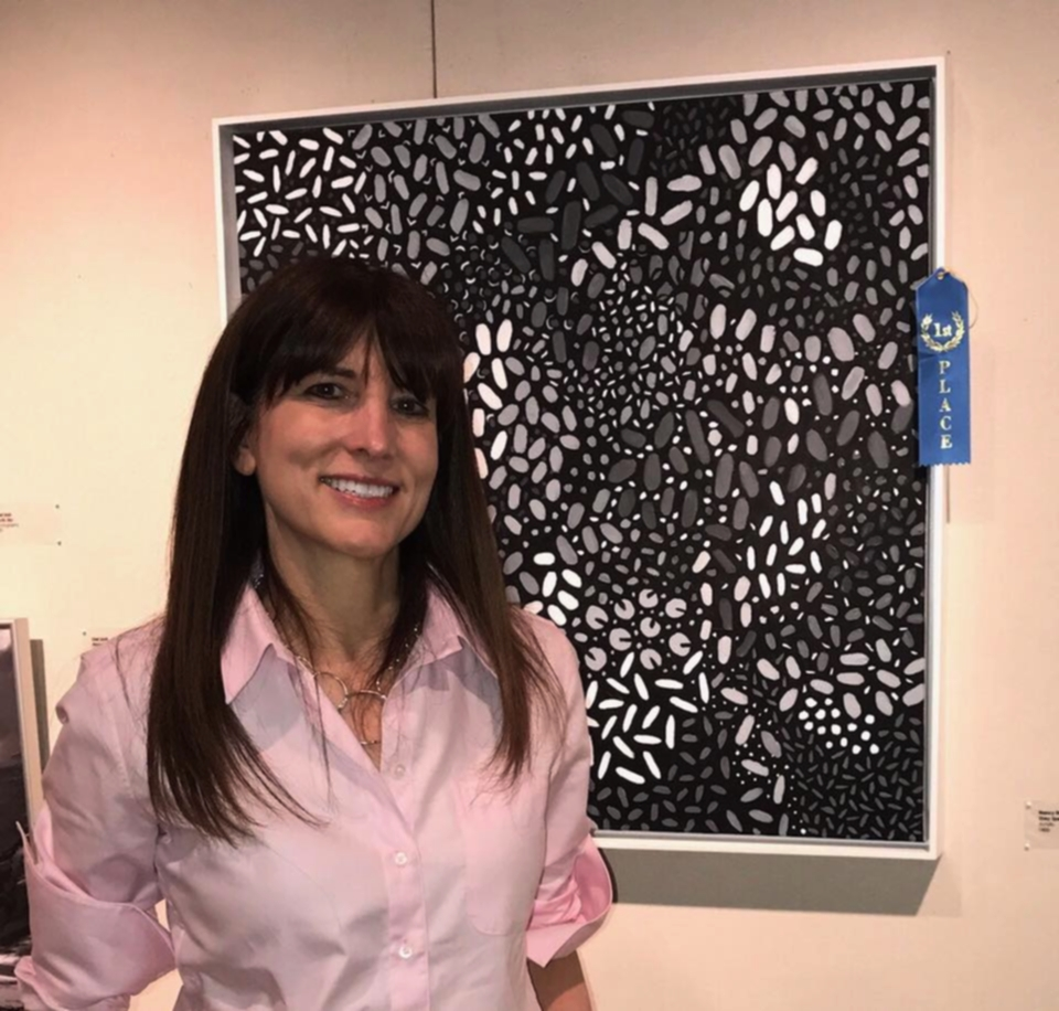 Nancy's painting Grey Spectrum was awarded First Place at the Art Society of Old Greenwich open juried show June 8, 2017.