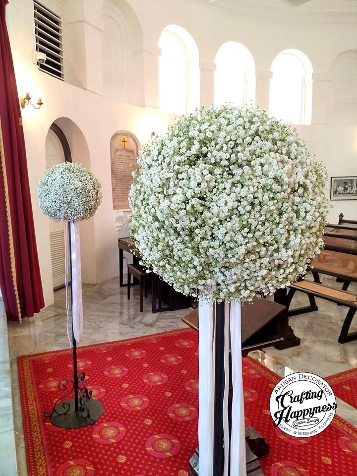 Church Wedding Flowers Singapore Crafting Happyness