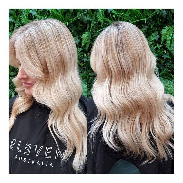 || 💫 Bright Creamy Blonde 💫 || . . . . #clayfieldhairdresser #blkavehair #brisbanesbestsalon #brisbanesbesthair #blackavenuehair #brisbanehair #brisbanesbesthairdressers #colourmelt #blackavenuehairdressing #whiteblonde #ombre #babylights #balayage #blonde #colorme #colormebykevinmurphy #colourmeltblkavehair #eleven #sachajuan_anz #hairtrends2019