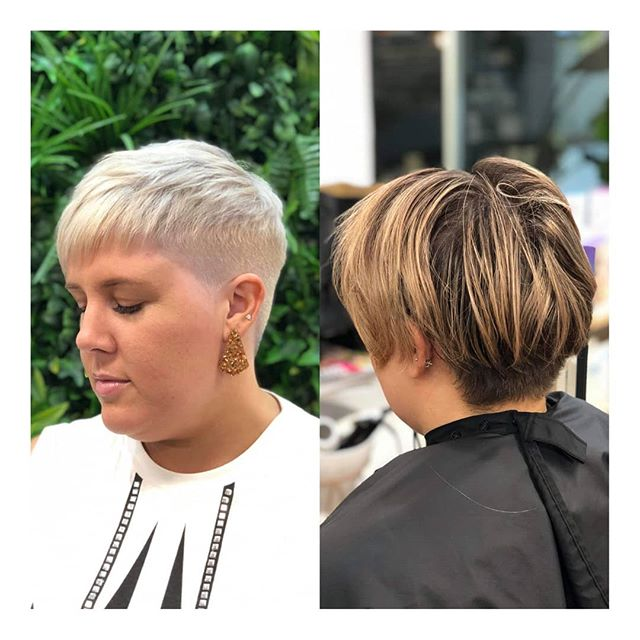 || SHORT, SHARP AND BLONDE! One of our fav transformations on the lovely Julia. All made possible with Color.Me and Blond Pro || . . #clayfieldhairdresser #blkavehair #brisbanesbestsalon #brisbanesbesthair #blackavenuehair #brisbanehair #brisbanesbesthairdressers #colourmelt #blackavenuehairdressing #whiteblonde #ombre #babylights #balayage #blonde #colorme #colormebykevinmurphy #colourmeltblkavehair #eleven #sachajuan_anz #hairtrends2019