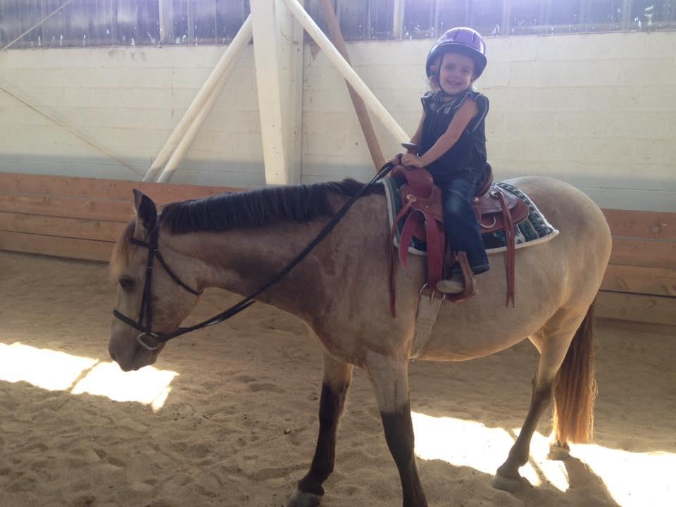 Sheridan and her new pony, Ziggy!