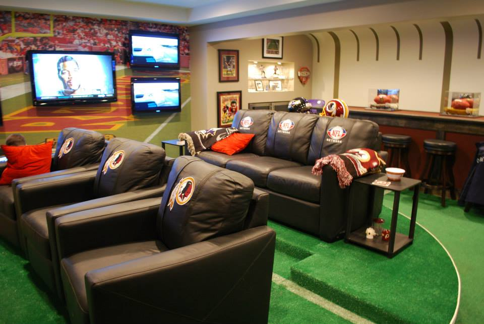 Man Caves NFL Network Fan Cave