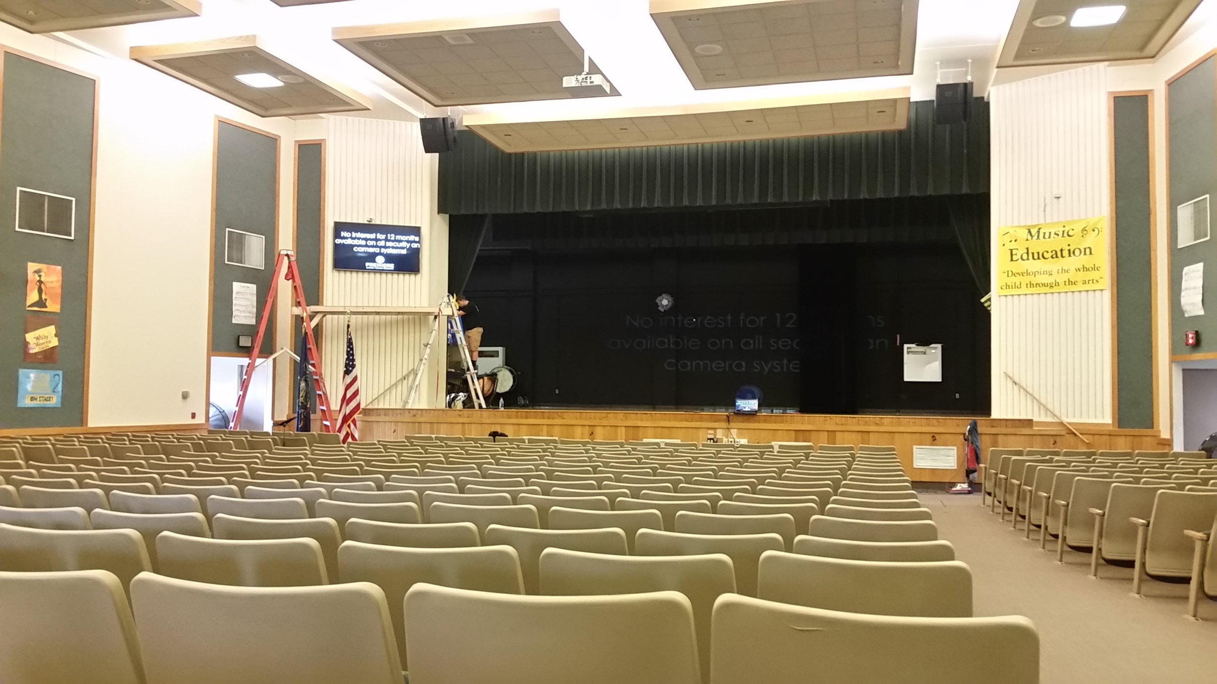 School auditorium projector system