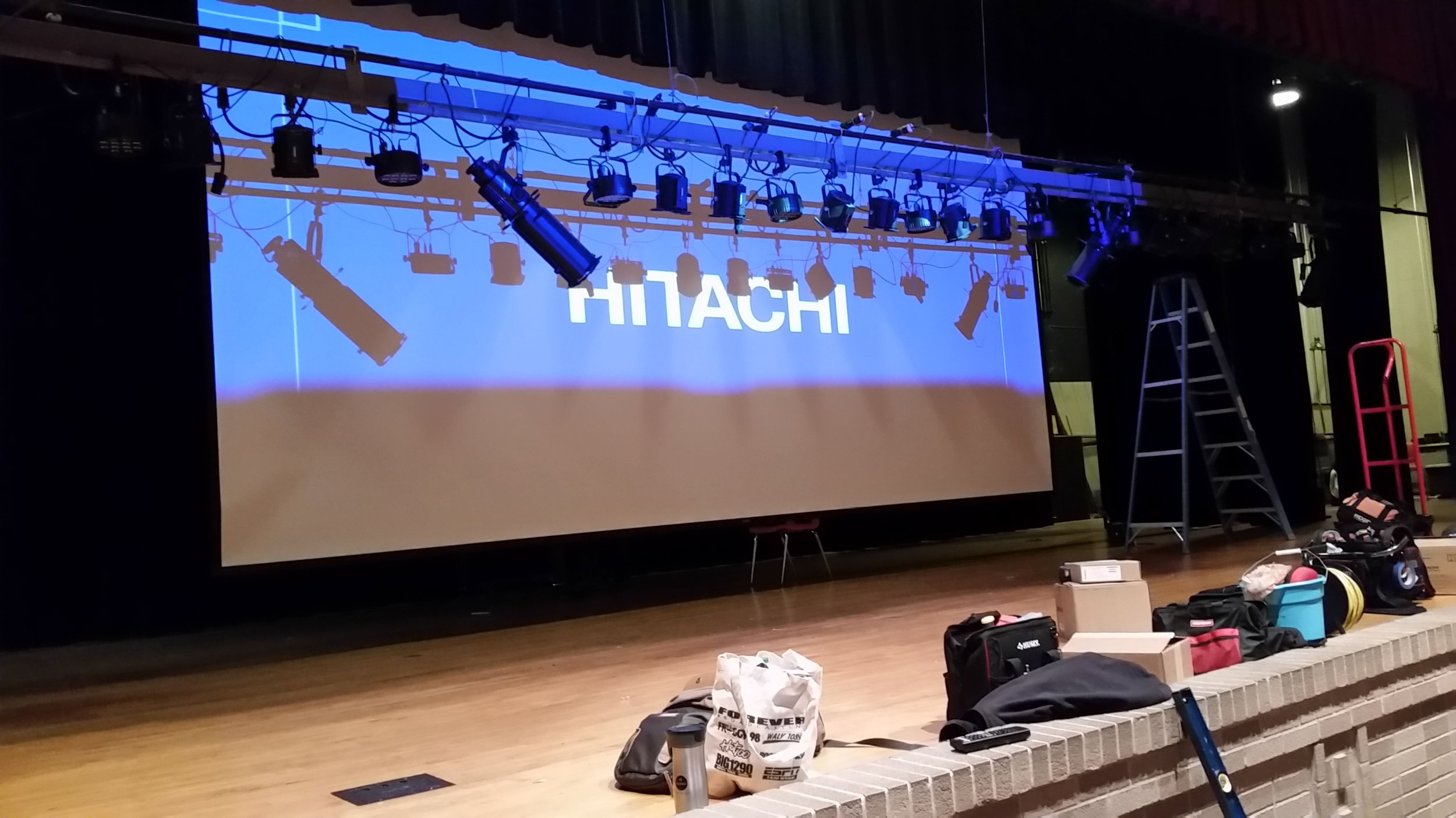 Schoo auditorium sound and video system