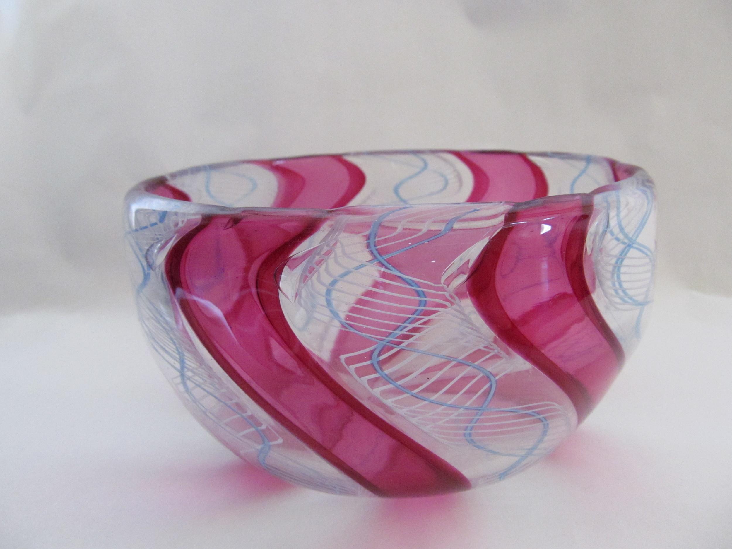 Gold Ruby Zenfirico Cane Bowl.JPG