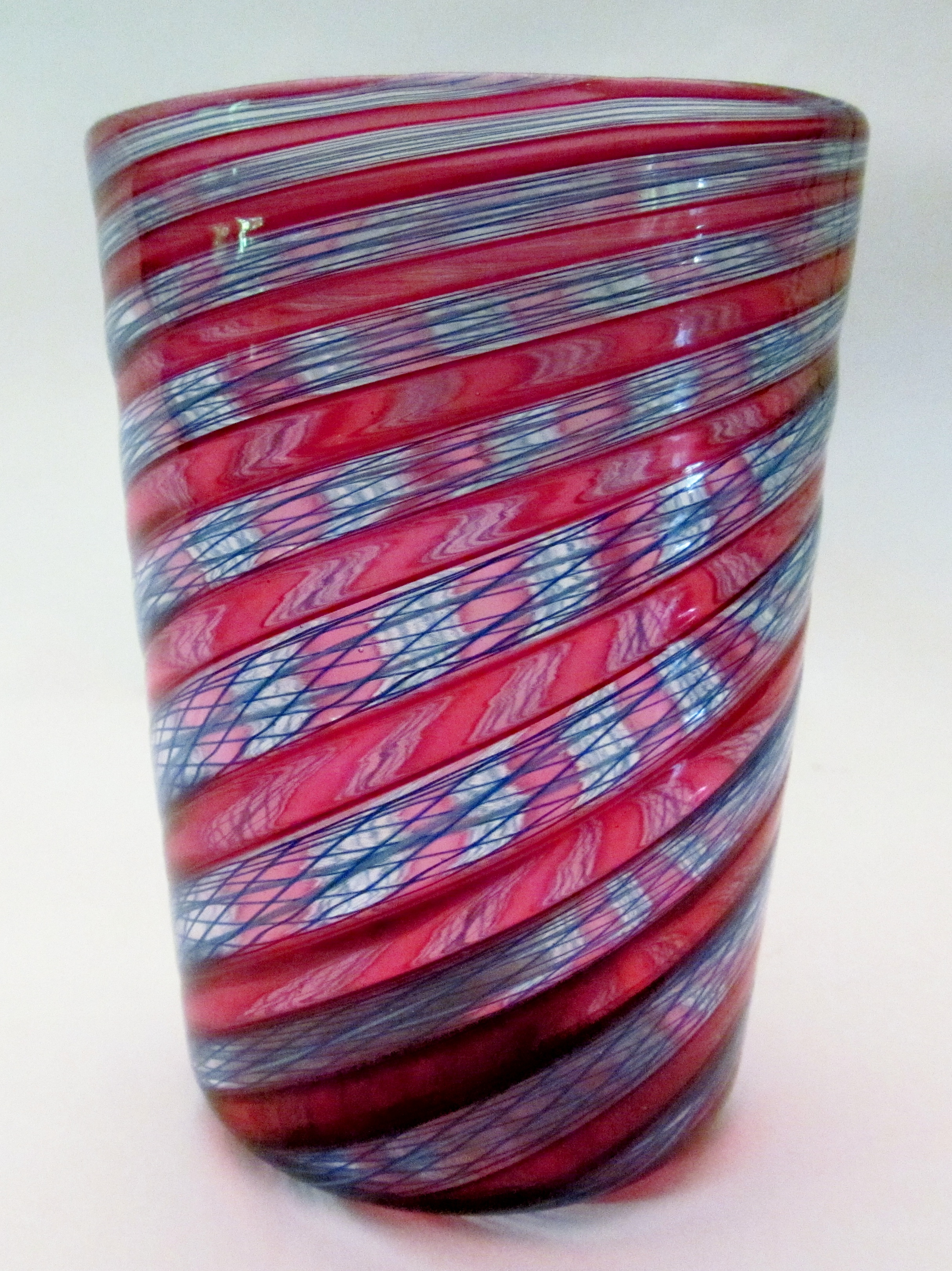 Gold Ruby and Blue Netti Cane Glass.jpg