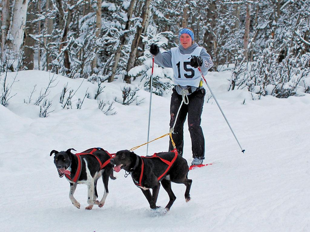 Tekla Backlund with Kiska and Attu