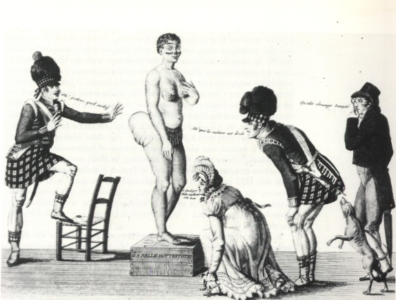 La Belle Hottentot, a 19th-century French print of Baartman