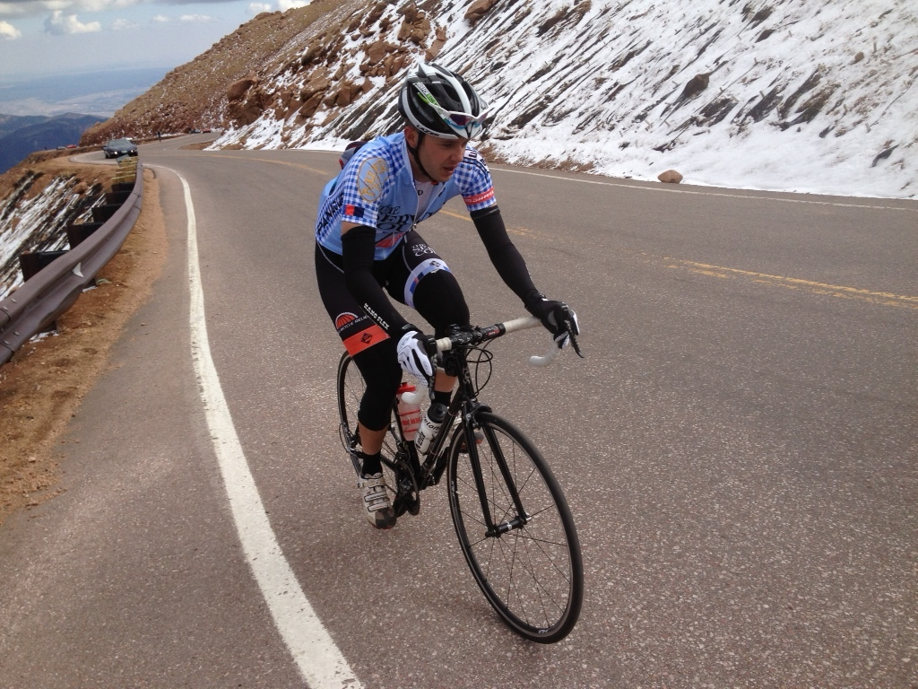 Heading up Pikes Peak on a chilly day in 2012. Photo credit: Chris Case