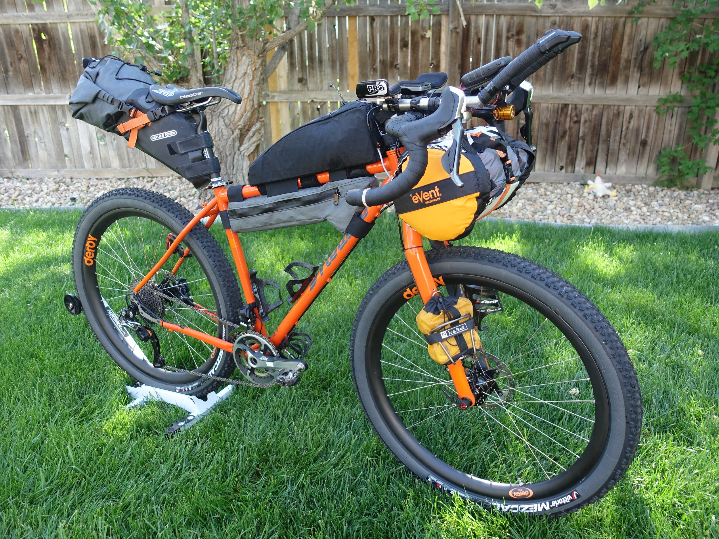 My beautiful Mosaic, decked out and ready for nearly 3,000 miles of action.