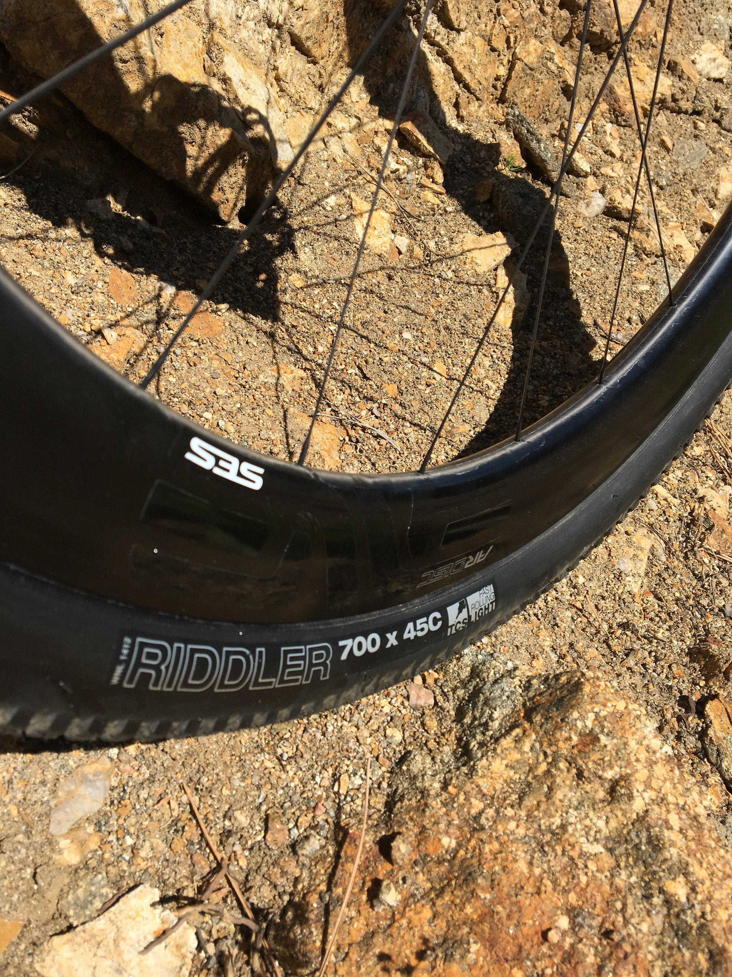 WTB's Riddler 45m should be up to the task of JayP's Gravel Pursuit.