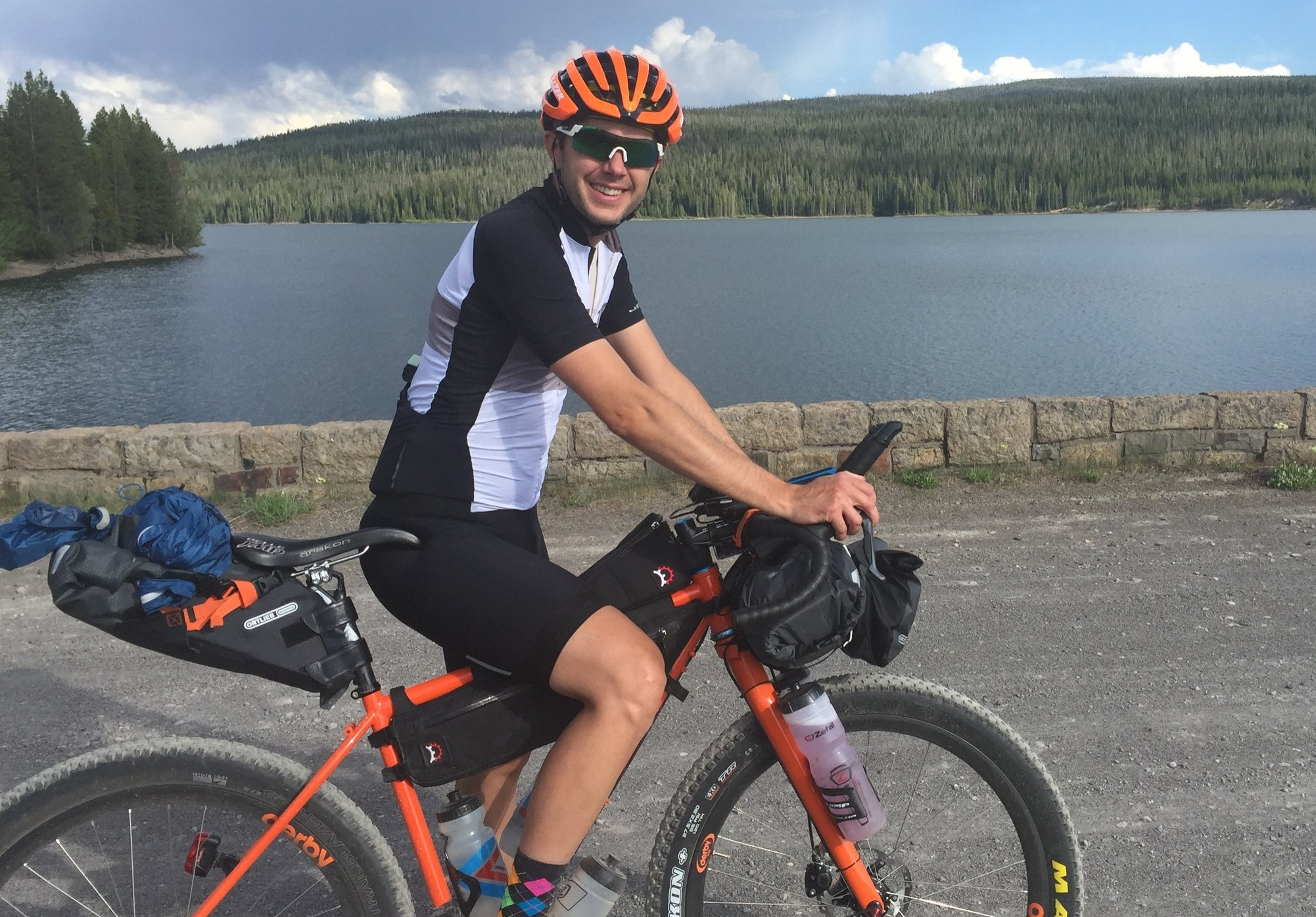 Nick near the Wyoming/Idaho border on the Great Divide Mountain Bike Route during a weeklong tour with his wife Kristen.