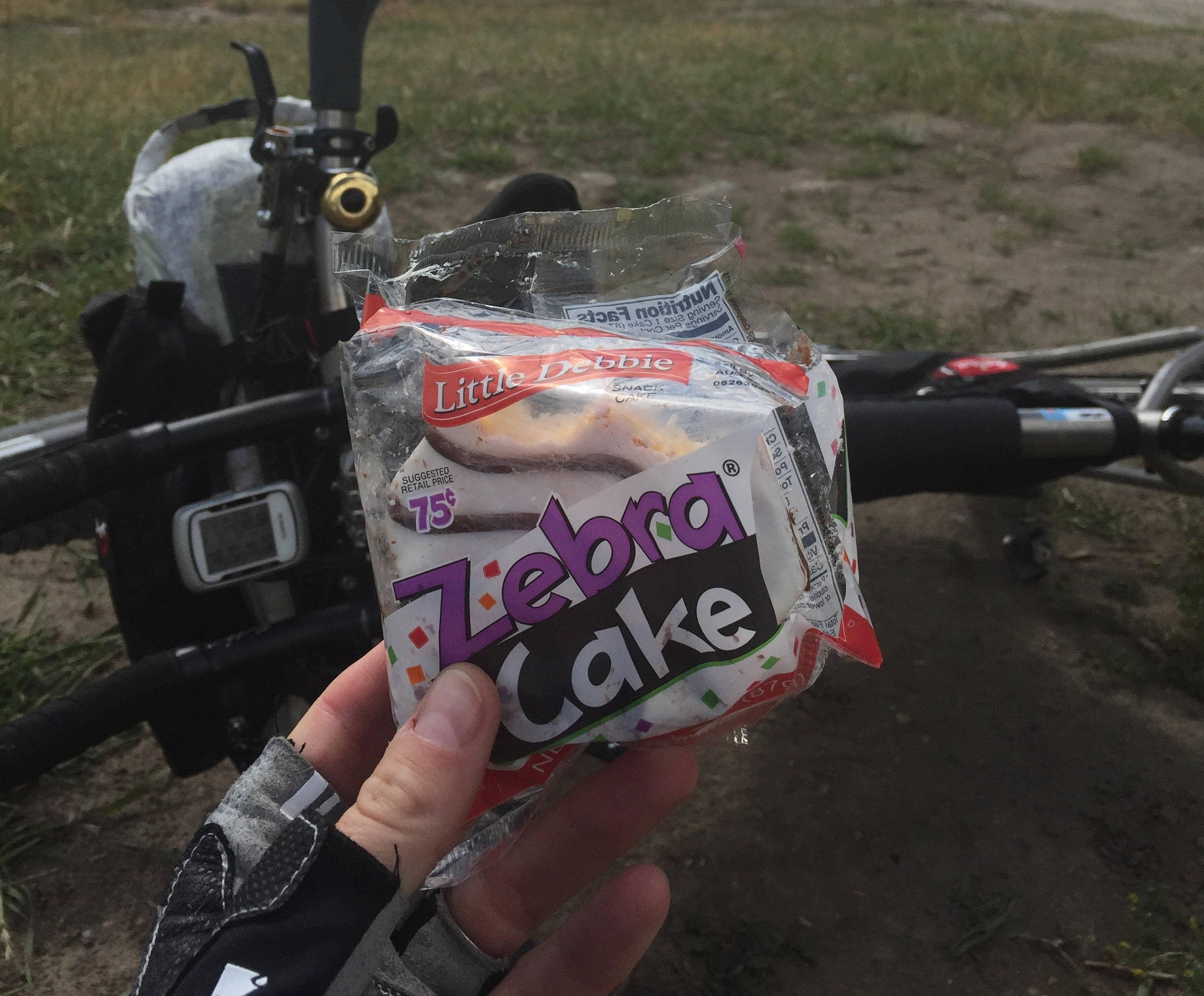 Just outside of Helena, Nick and I stopped for snacks at the summit of a climb. This Zebra cake made me so happy because it reminded me of good friend Kate Powlison. I don't remember why I have this association but it makes me smile every time.